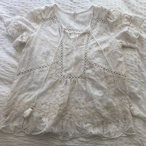 Featherbone for Anthropologie Blouse NWOT